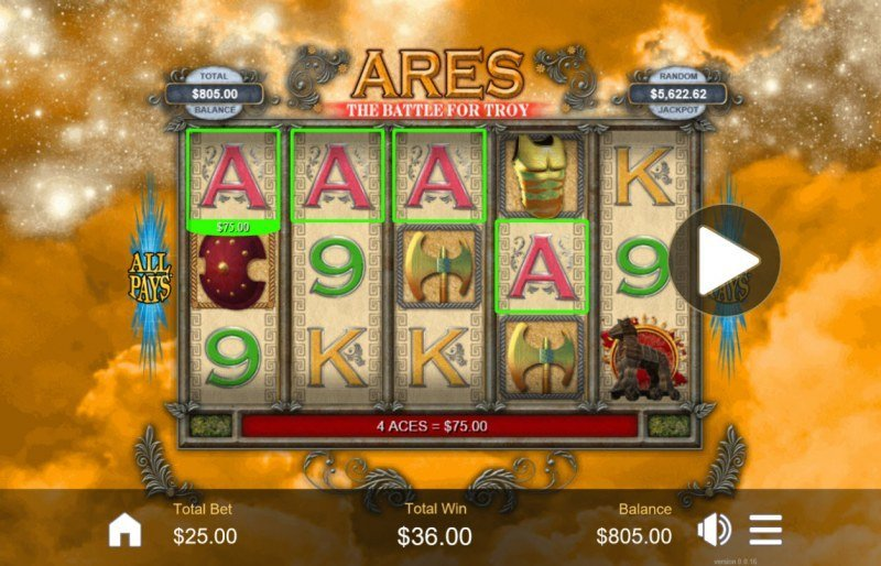 Ares, the Battle for Troy Slots