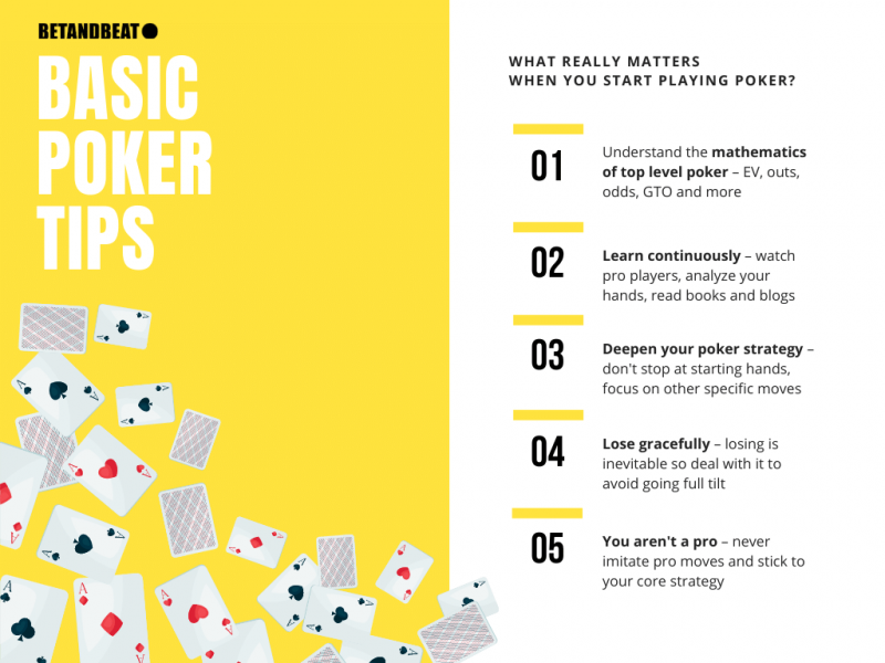 basic poker tips (infographic)
