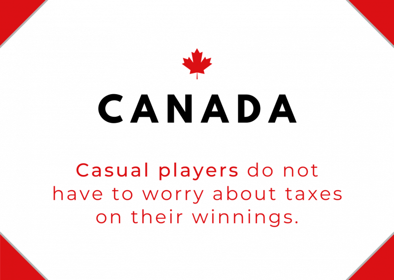 Do poker players pay taxes in Canada?