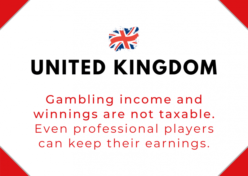 Do poker players pay taxes in the UK?