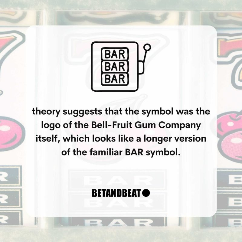 Meaning of the BAR symbol on slot machines.
