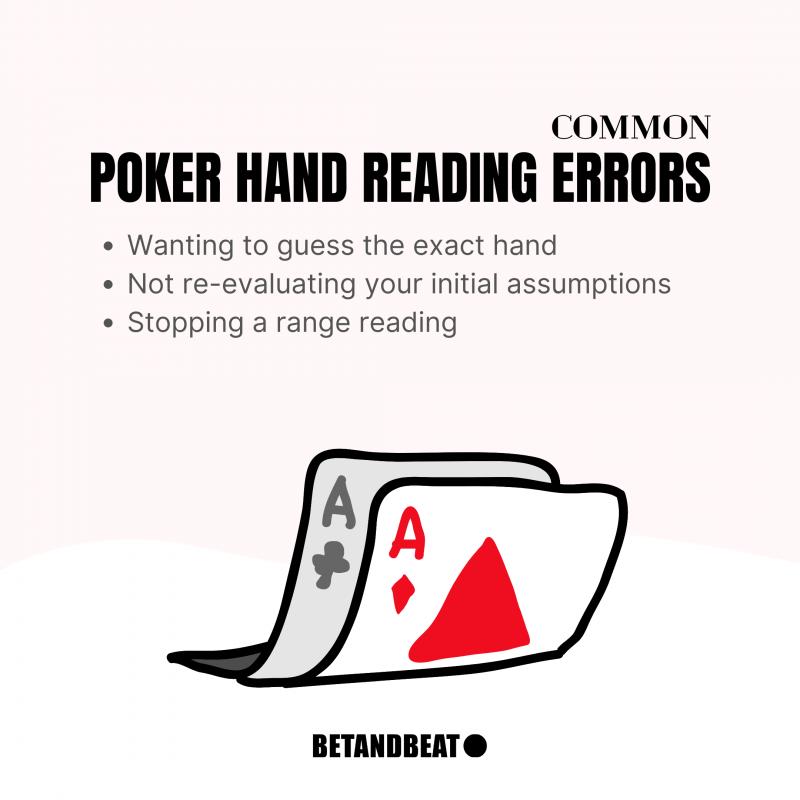 hand reading errors in poker