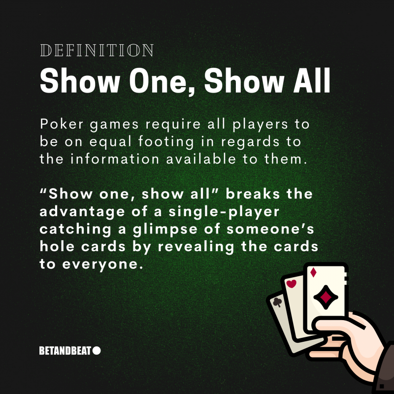 Show One Show All Poker Rule