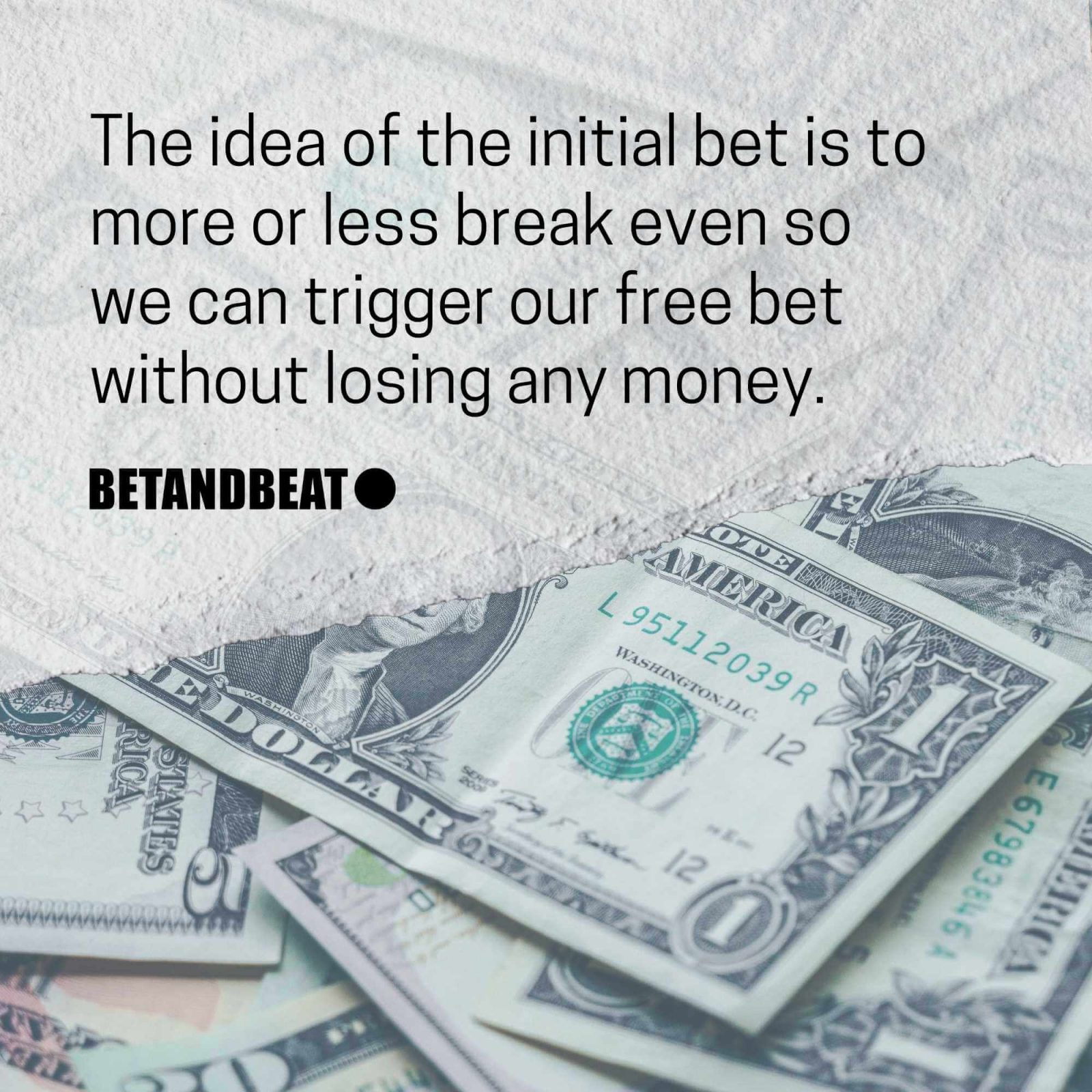 """The """"first bet"""" in matched betting."""