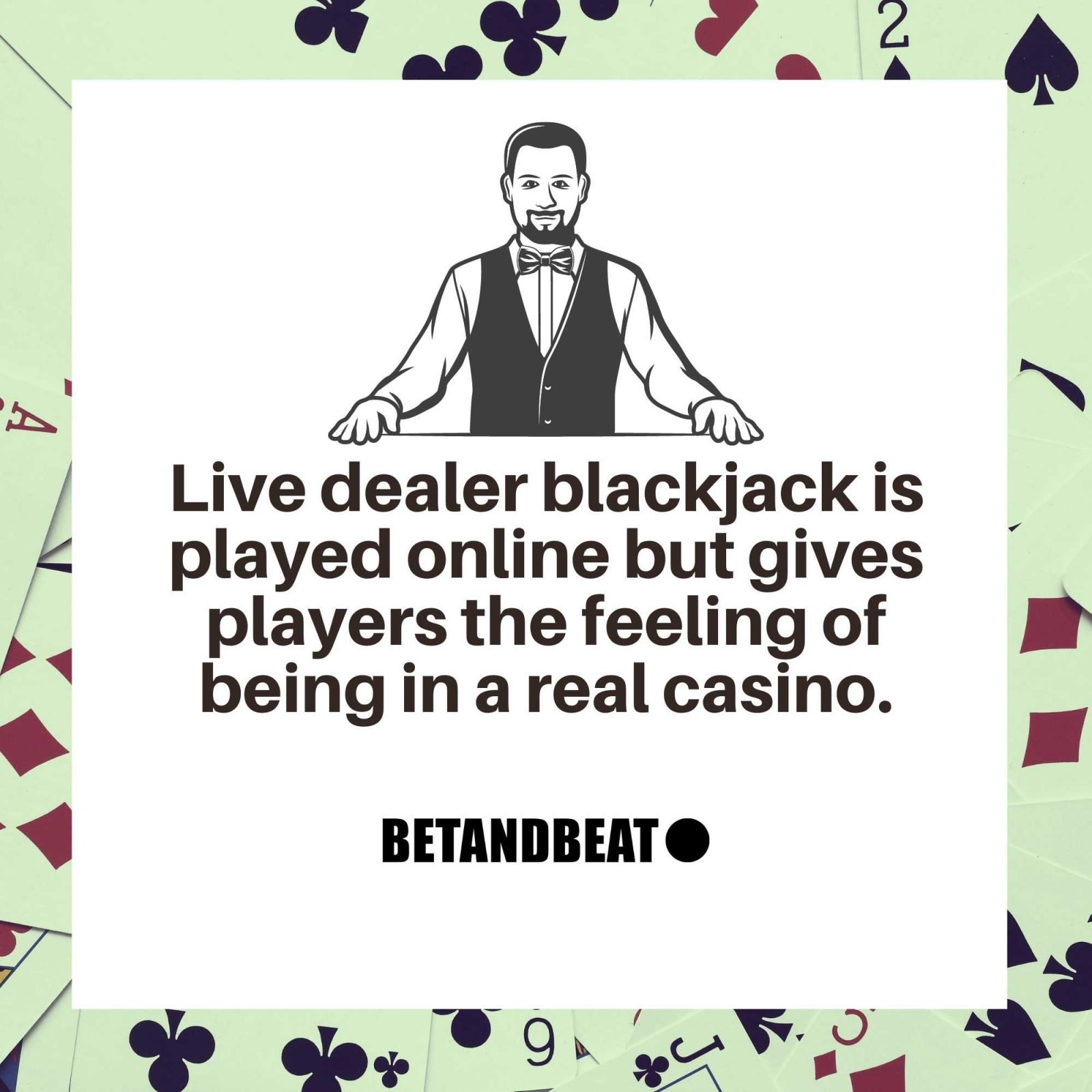 The feeling you get when you play live dealer blackjack.