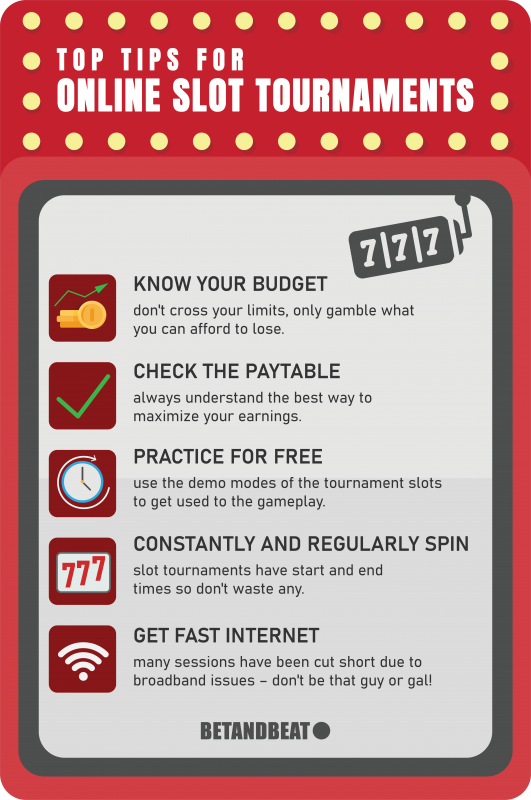 online slot tournament tips
