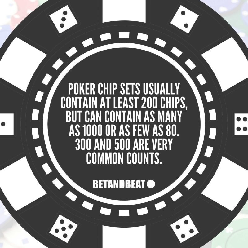 poker chip set count