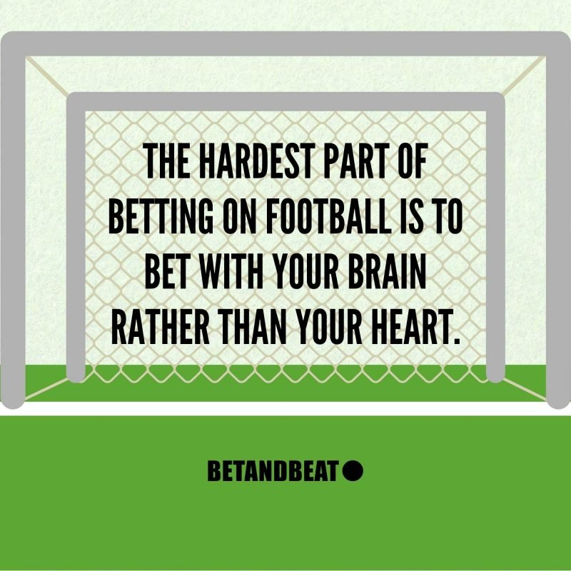 betting on football with your head