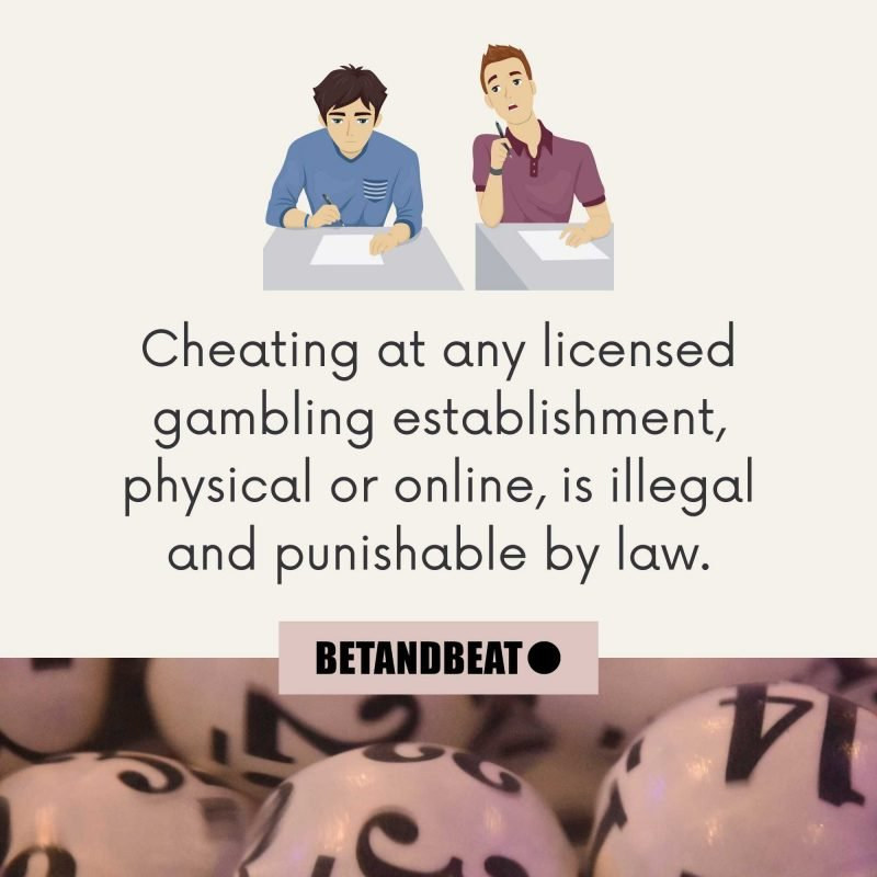 cheating at online bingo is illegal