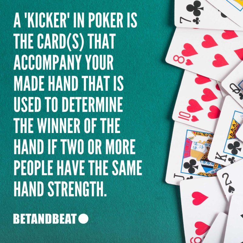 What's a kicker in poker?