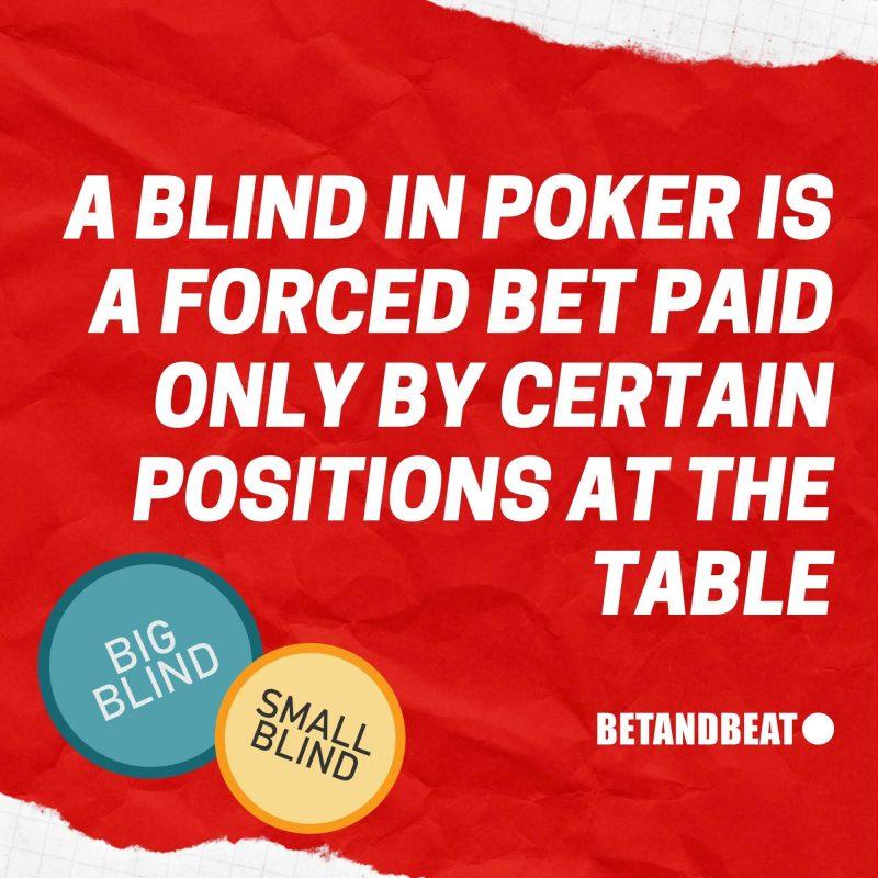 poker blinds definition