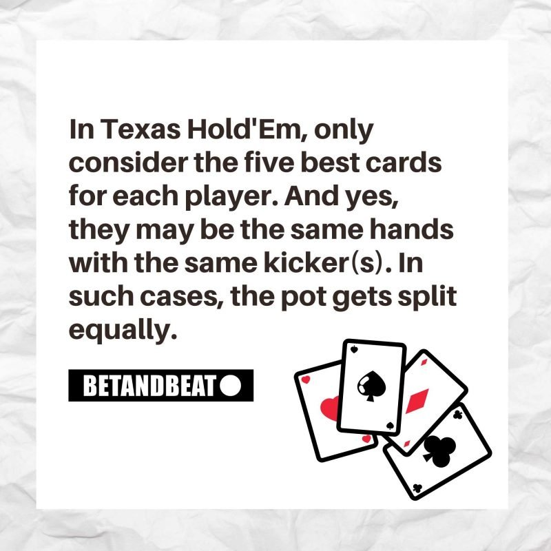 High Cards in Texas Holdem