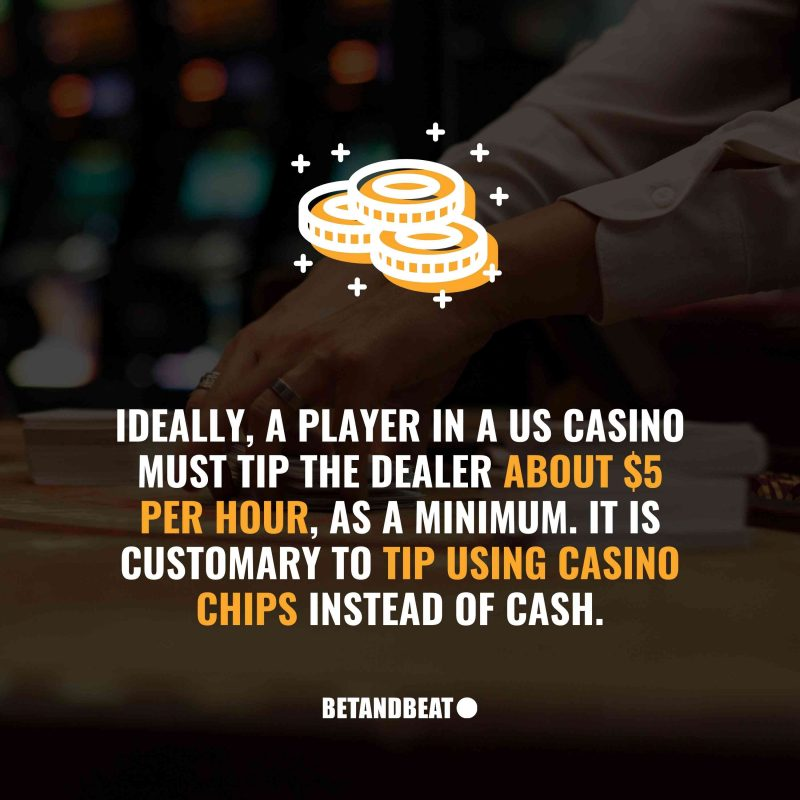 How to tip a dealer in a casino?