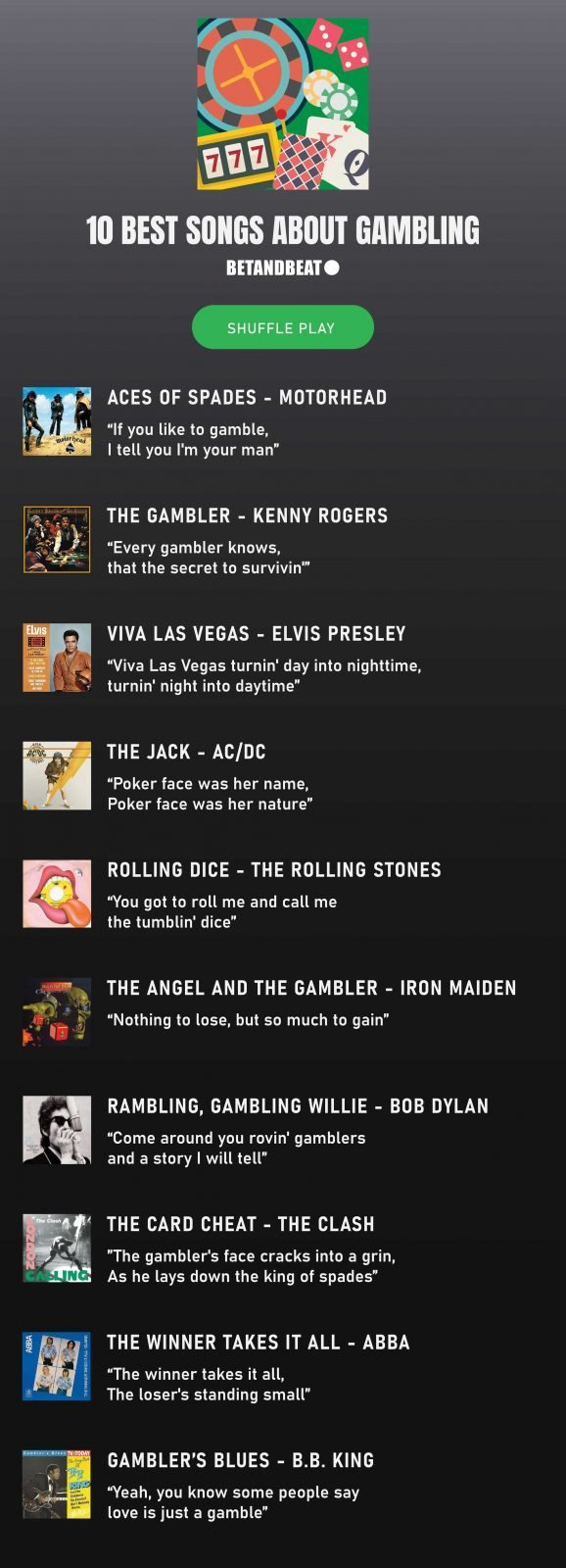 Songs About Gambling