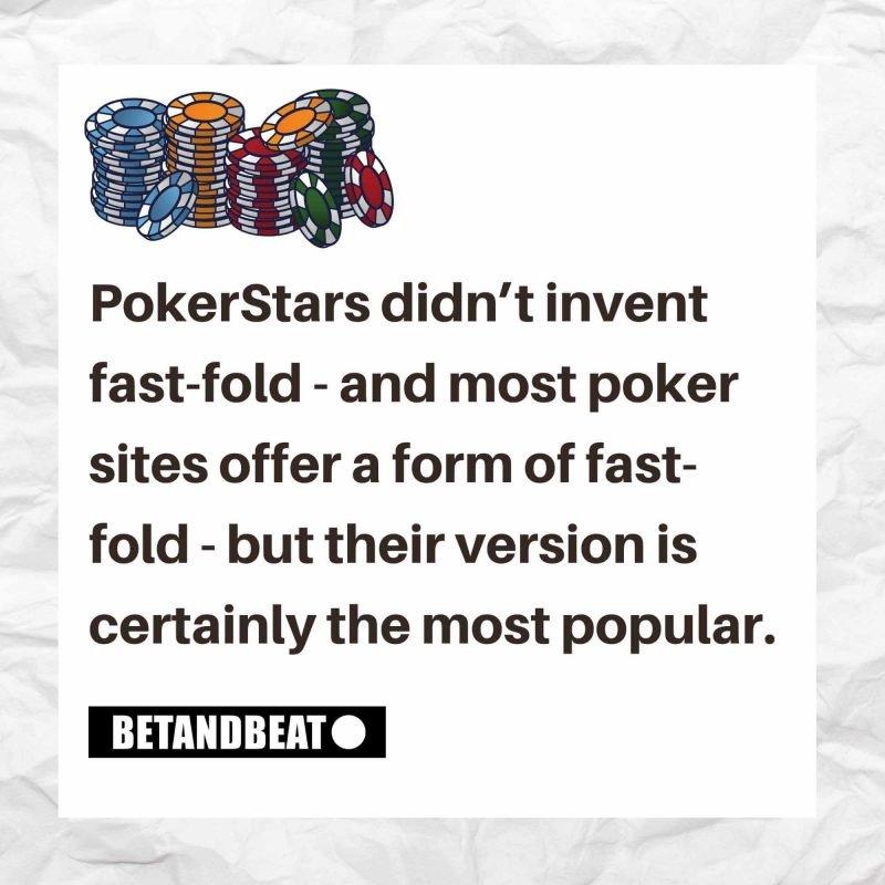 PokerStars Zoom is PokerStars' own version of fast-fold poker.