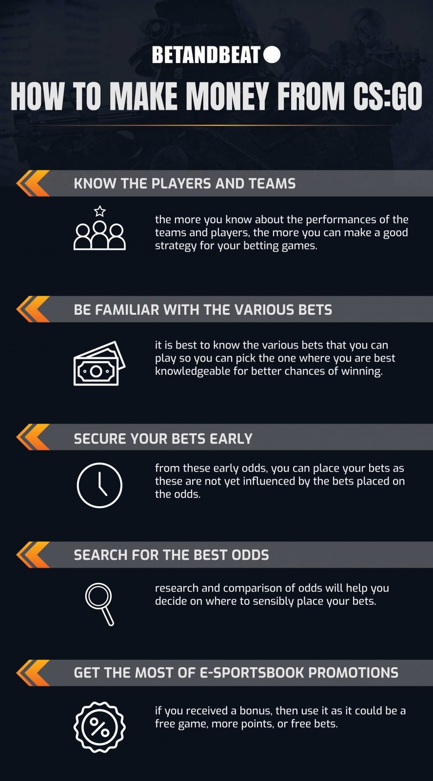 make money betting on Counter-Strike: Global Offensive