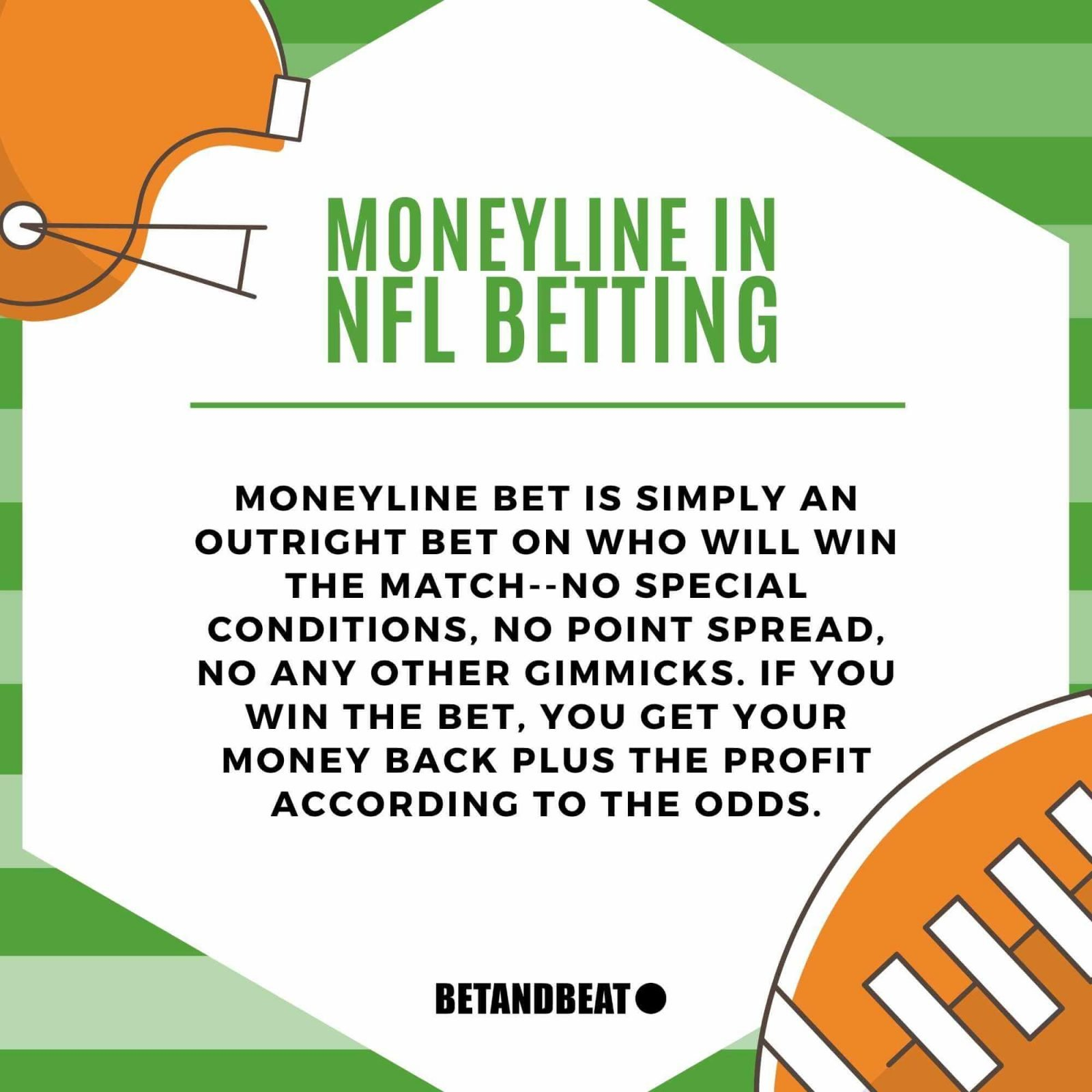 What is NFL moneyline betting