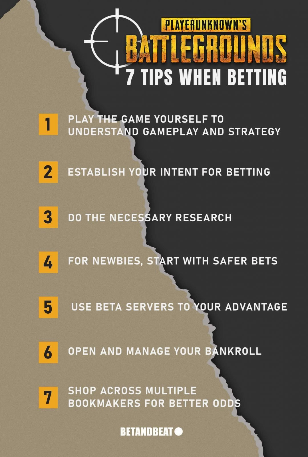 list of pubg betting tips